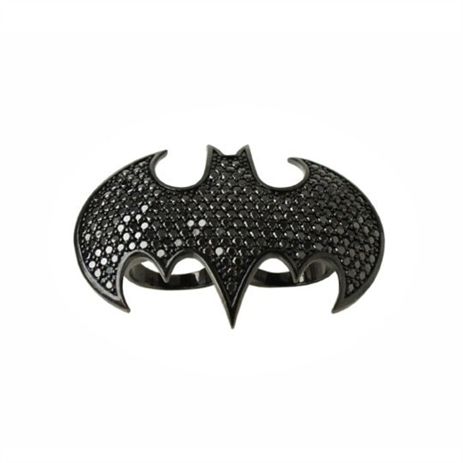 Bat Girl Logo Dome Double Finger Ring