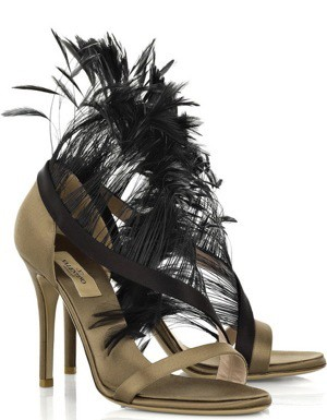 Valentino Feather Sandal