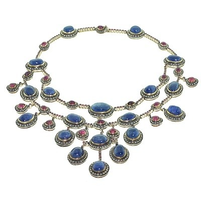 Extraordinaire Sapphire and Ruby Necklace