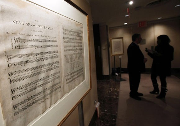 The Star Spangled Banner on view in Christie's NYC Gallery