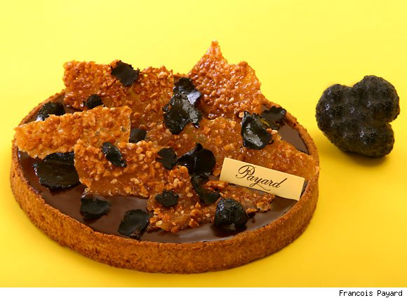 Celebrate New Years' Eve with Francois Payard's decadent black truffle chocolate tart