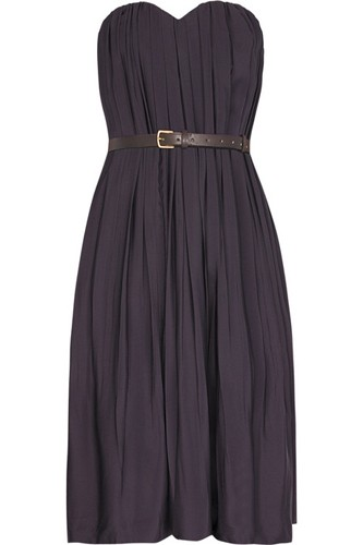 Chloé Strapless Silk Blend Dress