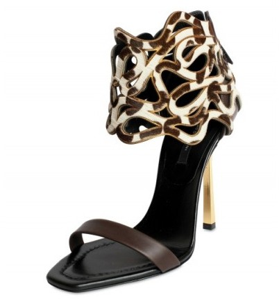Diego Dolcini Ponyskin Ankle Sandals