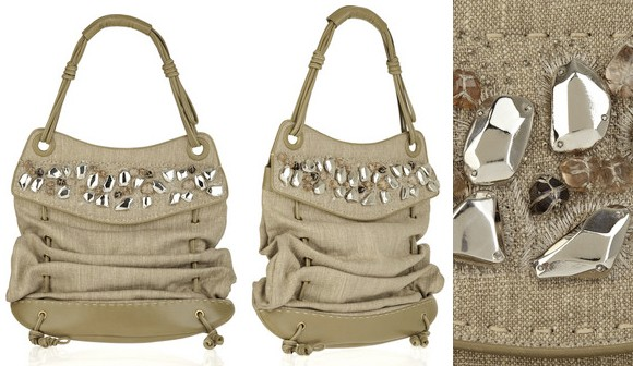 donna karan beige shoulder bag