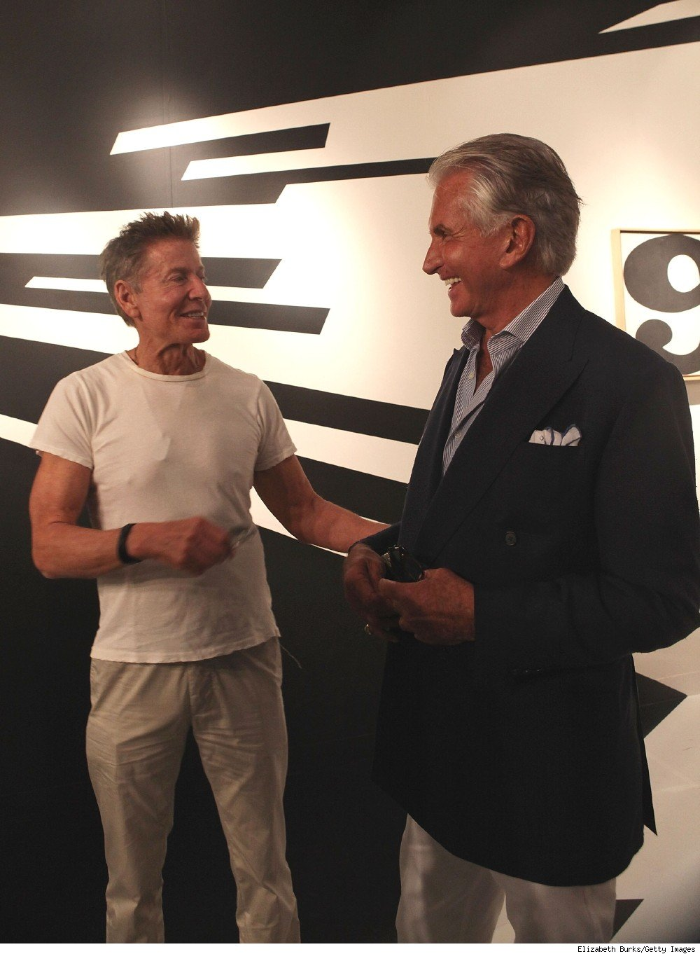 Calvin Klein and George Hamilton