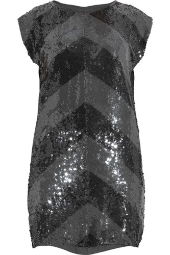 Haute Hippie Sequined Silk Mini Dress