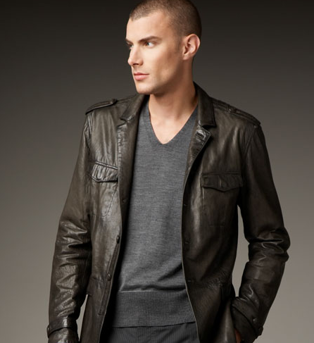 Leather Officer's Jacket