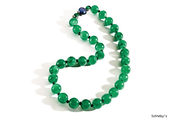 A magnificent and historic Imperial jadeite bead neckalce