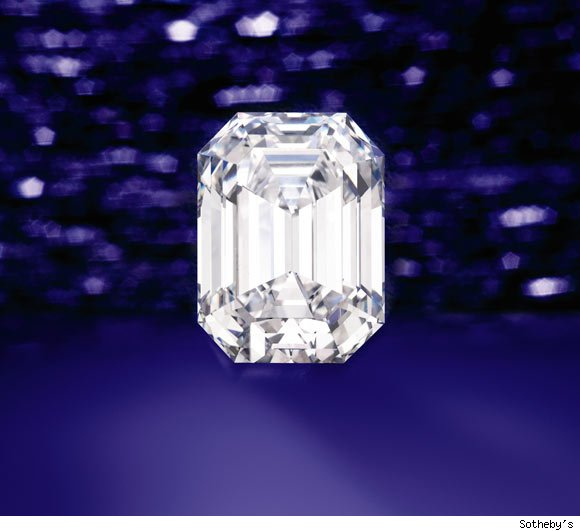 Tiffany & Co.'s classic emerald-cut diamond weighing 27.19 carats