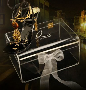 Q By Pasquale Limited Edition Glass Slippers