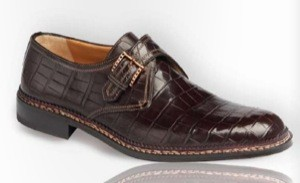 A. Testoni Alligator Skin Shoes