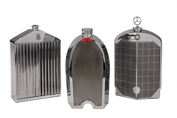 Chrome Grille Decanters by Nicholas Brawer