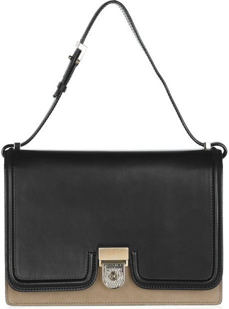 Victoria Beckham Leather and nubuck shoulder bag