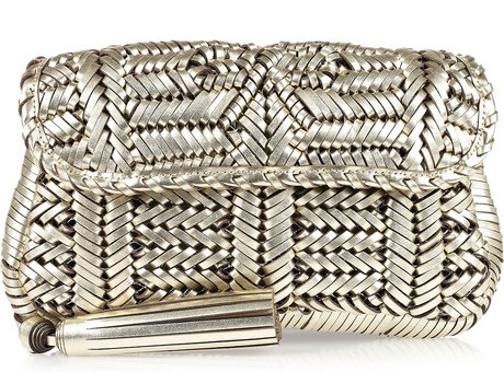 Anya Hindmarch Rossum woven leather clutch