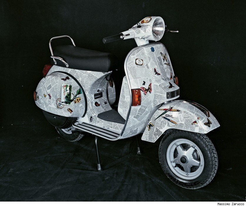 Ultime notizie (The Latest News), prototype of a Vespa Piaggio made by Barnaba Fornasetti
