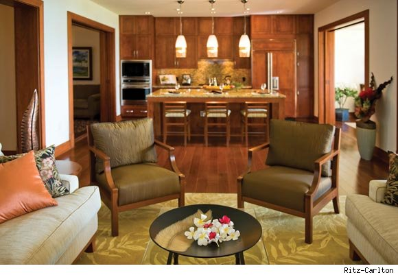 Ritz-Carlton Kapalua Bay Residences living room