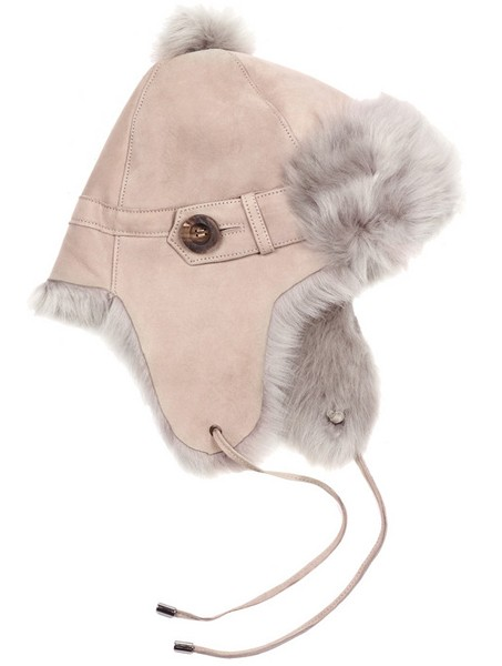 Karl Donoghue Suede & Shearling Trapper Hat