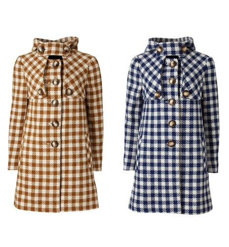Orla Kiely Wool Check Coat