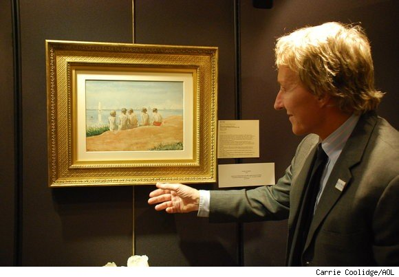 Leigh Keno with the Winslow Homer painting he will sell at auction in New York on January 18, 2011