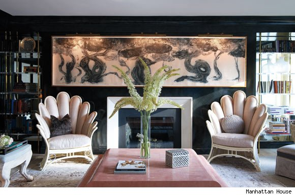 The Celerie Kemble-designed living room