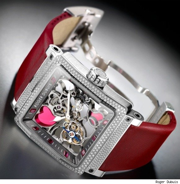 Roger Dubuis King Square Hearts Tourbillon Watch For Valentine's Day
