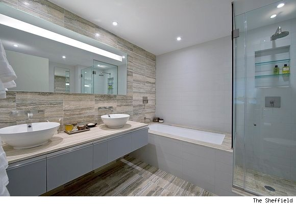 A Master Bathroom at The Sheffield