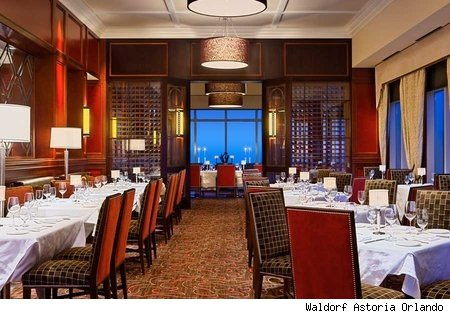 The Bull and Bear Steakhouse at the Waldorf Astoria Orlando