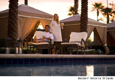 Private Cabanas at the Waldorf Astoria Orlando