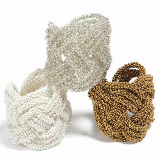 Kim Seybert's beaded napkin rings.