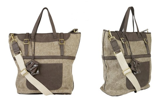 Tila March Khaki Colette Canvas Tote