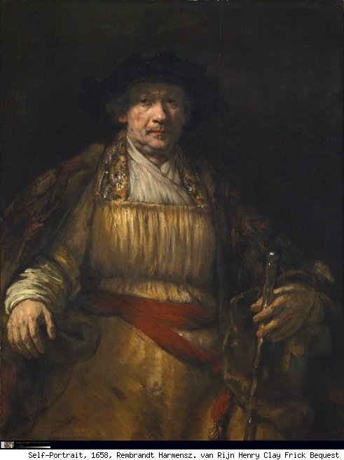 rembrandt self portrait at the frick
