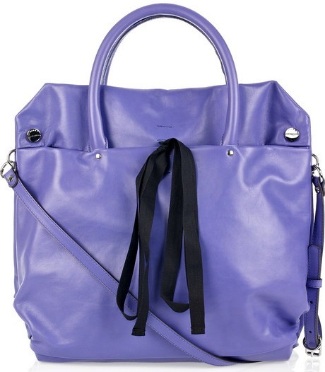 Marni Ribbon Trimmed Square Leather Tote
