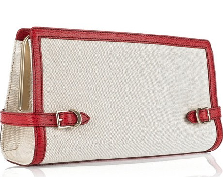Bally Redgrave Canvas and Leather Clutch