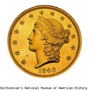 smithsonian gold coin $20 million