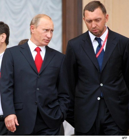 #4 - Oleg Deripaska (with Putin at left)