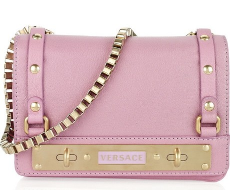 Versace pink shoulder bag