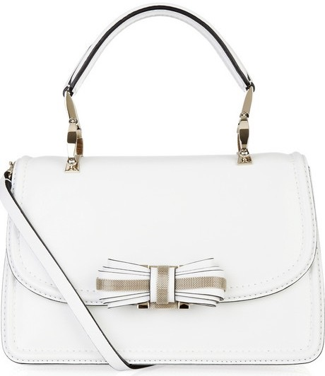 Valentino Bow-Embellished Leather Frame Bag