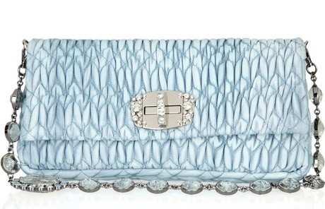 Miu Miu Crystal Embellished Matellasse Bag