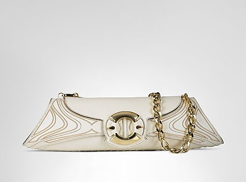 Baguette Clutch in Bone