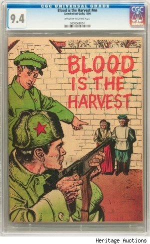 blood is the harvest rare comic book