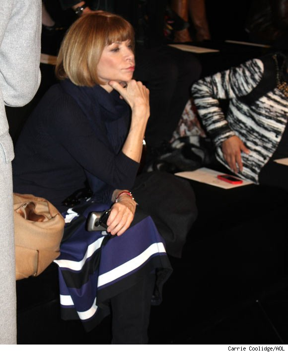 Anna Wintour attends the Ralph Lauren Fall 2011 Collection