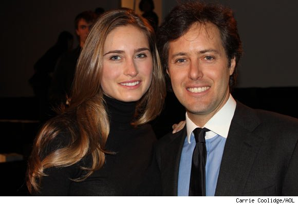 David Lauren and fiance Lauren Bush at the Ralph Lauren Fall 2011 Collection Presentation