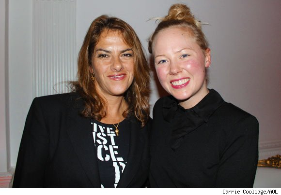 Artist Tracey Emin and friend