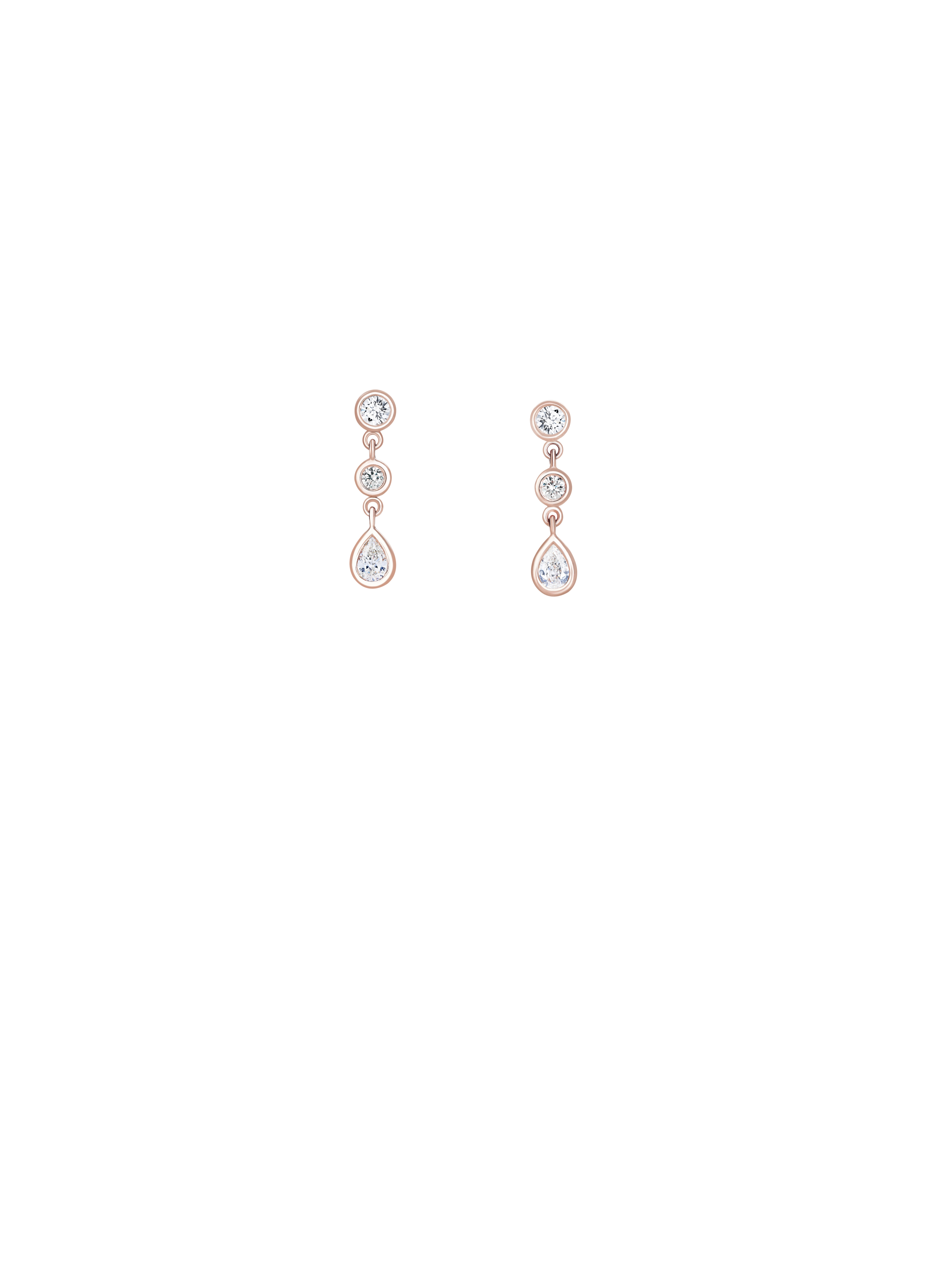Clea Drop Earrings in Rose Gold