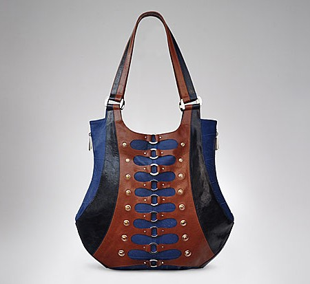 Large Corset Tote in Regatta Blue