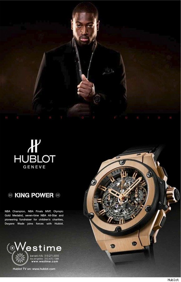 Dwyane Wade New Hublot Watches Brand Ambassador