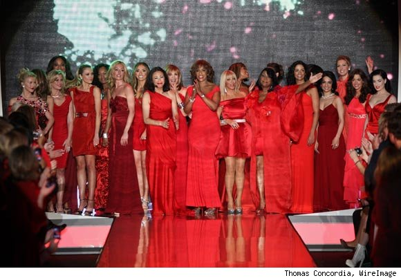 The finale of The Heart Truth's Red Dress Collection 2011 at Lincoln Center. 