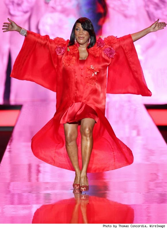 Patti LaBelle, dressed in Zang Toi, walks down the runway at The Heart Truth's Red Dress Collection 2011 fashion show in New York.