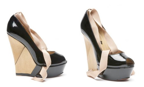 Lanvin Patent Leather Wedges
