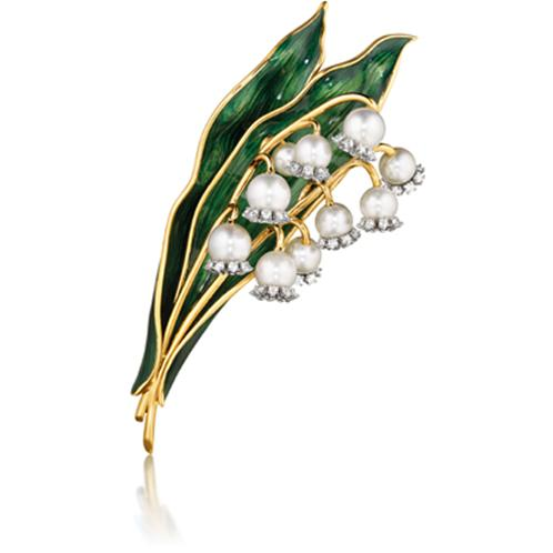 verdura lily of the valley brooch